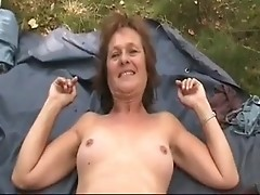 Granny outdoor with her lover