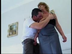 Mature girl slut fucked hard after the birthday great two mans in the kitchen