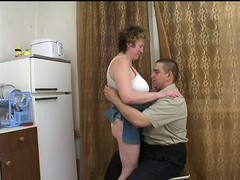 Russian Mature with fat Boy