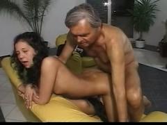 old man two girls