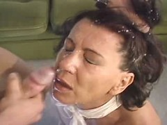 hot mom fucked by young guy and gets big facial load