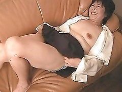 mature japanese ladie playing