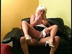 Chubby blonde MILF is horny and wants that hard cock right now