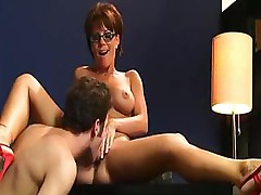 Horny MILF gets fucked in as many ways as she can at club