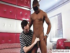Amazing black uncut cock sucked by gotmasked