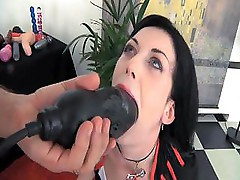 Omar Galanti uses a dildo and his large cock to fuck this babe