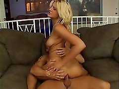 Stacy gulps his cock and then gets the cock deep in her ass