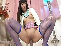 Shinobu Aoshima works that dildo like it's a real hard cock