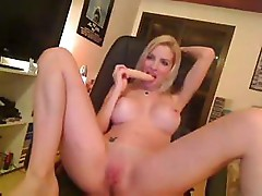 Busty Clara Aguilar is horny and shows off and masturbates