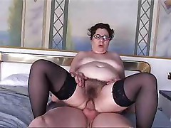 Italian fat granny gets fucked by a younger guy