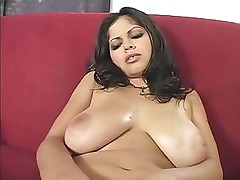Busty brunette Evie Delatosso shows off her body and fucks