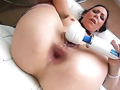 Julie Night gives a POV of her masturbation with her toys