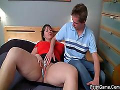 Cock wanted BBW seduces shy man