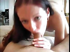 Shaved pussy Hailey fucks and sucks his hard cock on her bed