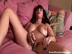 Horny MILF Cassidy X plays with herself until she gets a cock