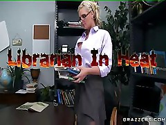 Phoenix Marie is a librarian who is about to get in some heat