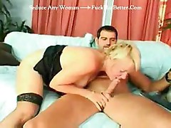 Granny gets a young man's cock to suck and fuck like crazy