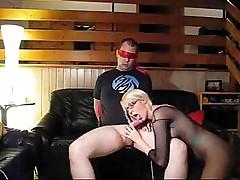 Blonde Fucks Her Slave