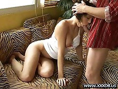 Black haired girl loves to get a hard cock deep in her ass