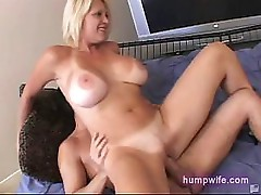 Blonde housewife cuckold sex