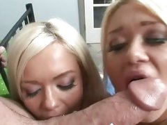Cayden and Crista Moore suck share a hot hard cock...