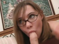 Raunchy Cindy Sterling rams a hard dick down her throat