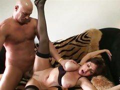 Karen Kougar granny love sleeping with horny guy