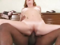 Cherry Poppens gets off riding a big black dick