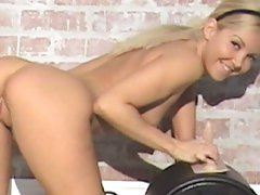 Aaliyah Love preparing a sybian for a hard ride