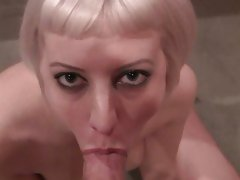 Cherry Torn soing a hard oral to her horny guy