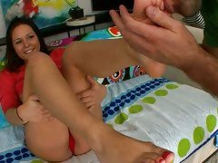 Talia Palmer get her clean toes lick hard