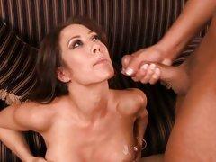 Capri Cavalli polishing the knob of her hot partner