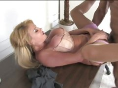 Taylor Wane pumping hard with long drain black pipe