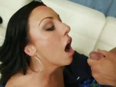 Tiffany Brookes getting dropped with a load of cum