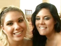 Aubrey Adams and Madison Parker with cum on face