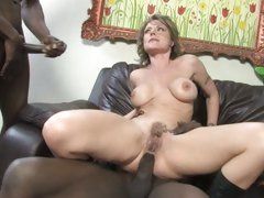 Velicity Von cougar got throbbed hard on couch