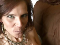 Syren Demer shoot a load of warm cum in her mouth