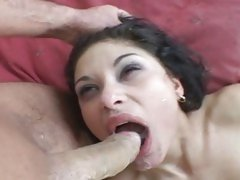 Tera Joy lusty babe filled on face with warm cum