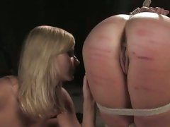 This blonde bitch loves to get her ass whipped