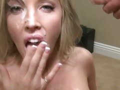Peter North and Samantha Saint man's sperm melt on face