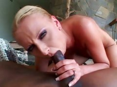 Dark meat lover Tracey Lane swallows a massive boner
