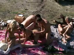 Dylan Ryder gangbang with her friend and a hot group