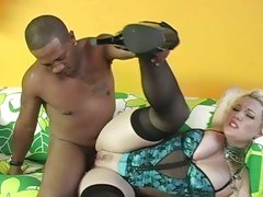Candy Monroe bumped hard by her horny black guy