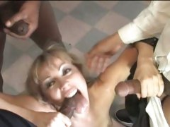 Adrianna Nicole suck the cock of black guys