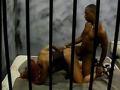 Black bitch banged in prison