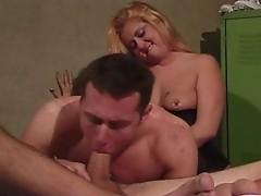 A keen bi cock massage