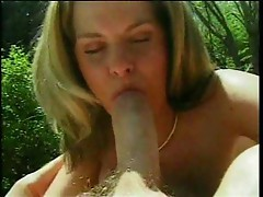 Blonde with big tits easily milks dick