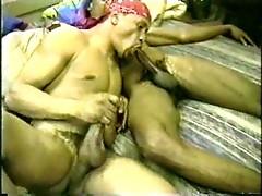 Sucking and wanking ebony friends