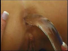 Glass in ass