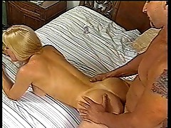 With two blond hookers on the room